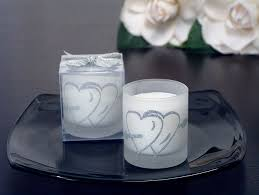 Silver Double Hearts Glitter Candle Holder