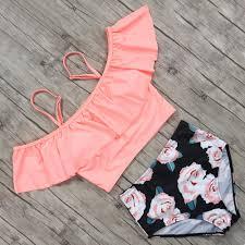 2020 <b>Flamingo Bikini 2019</b> New High Waist Swimwear Women ...