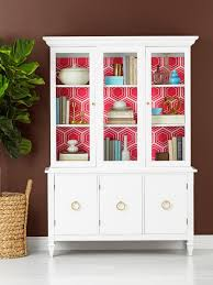 New Yorker Kitchen Cabinets How To Wallpaper The Inside Of A China Cabinet Hgtv