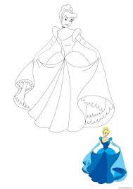 Printable cinderella coloring page to print and color for free. Disney Princess Cinderella Coloring Pages Printable