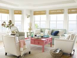 Decorations:Modern Beach House Decorating With High Glass Windows And Mdf  Wall Units Also Wood