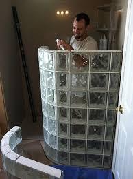 glass block shower kits installation