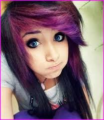 funky look with emo to your purple hair