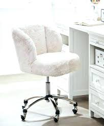 appealing white fur office chair 26 desk fuzzy com faux with arms