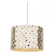 the lighting book acquila easy fit mirror and cream pendant lamp shade