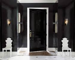 white interior front door. White Interior Front Door And Black Exterior Doors Creating Brighter Home Decorating