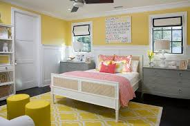 yellow and gray kid bedroom