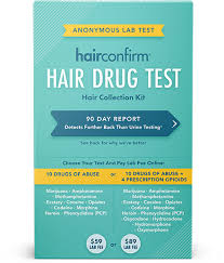 Drugs In Hair Chart Our Products Hairconfirm Hair Collection Kit