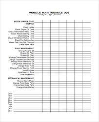 company vehicle maintenance log company vehicle maintenance log template
