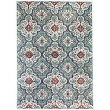 hampton bay star moroccan cool blue 7 ft 10 in x 9 ft 10 in indoor outdoor area rug