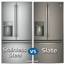 slate appliances vs stainless. Perfect Appliances Which Style Of Fridge Has More APPEAL Slate Or Stainless STEEL Intended Appliances Vs Stainless T