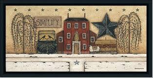 primitive simplify tin star folk by donna atkins framed art print at discountartoutlet  on primitive framed wall art with primitive simplify tin star folk by donna atkins framed art print
