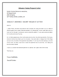 Advance Salary Request Letter Template Lettering Proposal