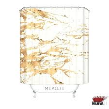 bathroom high quality printed golden luxury exquisite shower curtain multi sizes bath decor curtains best rail