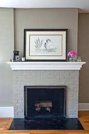 should i paint my brick fireplace fireplace 9 paint brick fireplace grey