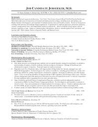 How To Write A Resume For Doctor Job Physician Cv Format Program