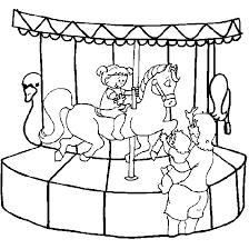Kids N Fun Kleurplaat Kermis Draaimolen