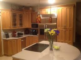 Wood Trim Kitchen Cabinets Paint Or Replace Oak Cabinets With Wood Trim Counters Kitchen