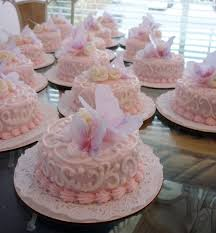 Alamo Sweets Llc Individual Baby Shower Cakes With Edible Butterflies