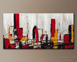 modern city abstract art painting image by carmen guedez