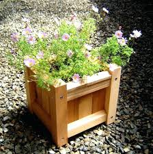 garden ideas and patio small square wood planter boxes using reclaimed with flower plants large box