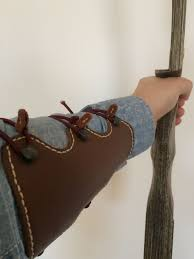 picture of leather arm guard archery