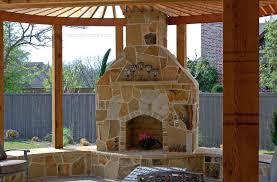 outdoor fireplace construction backyard brick plans oven