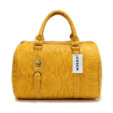 Coach Embossed Medium Yellow Luggage Bags DEH