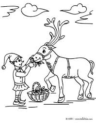 Small Picture Christmas elf reindeer coloring pages Hellokidscom