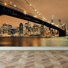 Small Picture Wall Mural New York Skyline Peel and Stick Repositionable Fabric