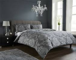 damask duvet quilt cover set bed linen