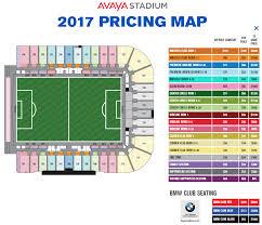 2017 Avaya Stadium Season Ticket Pricing Map Spoiler Its