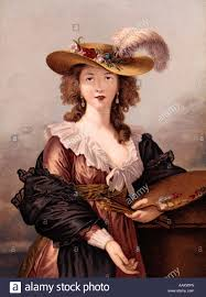 th century w beauty stock photos th century w beauty self portrait of brunin 18th century w hold artist palette brushes fashion beauty large hat