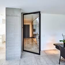 pivot glass doors exterior uk. glass pivot door with black anodized aluminium doors exterior uk e