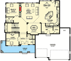 Craftsman With Amazing Great Room - 73330HS floor plan - Main Level