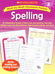 Word Patterns New Amazon WeekbyWeek Homework Packets Spelling Grade 48 48