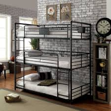 Industrial style furniture Dining Room Furniture Of America Flynn Industrial Style Metal Antique Black Triple Twin Bunk Bed Overstock Shop Furniture Of America Flynn Industrial Style Metal Antique Black