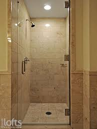 Tiled Shower Stalls | ... separate shower stall with glass door and marble  tile