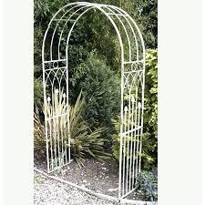 metal garden arches metal garden arch aged cream