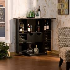 at home bar furniture. Amazon.com: Southern Enterprises Fold Away Bar Cabinet, Black Finish: Kitchen \u0026 Dining At Home Furniture