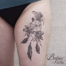 тату ловец снов и лилии мои татуировки тату татуировки и лилии
