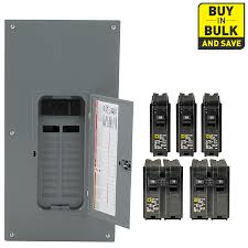 shop circuit breakers load centers fuses at lowes com square d 40 circuit 20 space 200 amp main breaker load center
