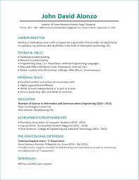 Resume Sample Chronological Resumes Best Resume Template Cv