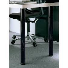 black steel table leg set