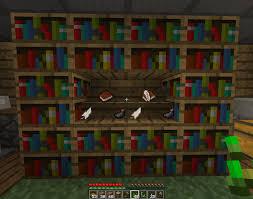 Bookshelf custom bookcase minecraft astounding bookcase minecraft
