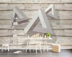 Beibehang Custom Tapete 3d Stereo Foto Wandmalereien Dreieck Holz