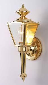 1 light polished brass outdoor wall sconce