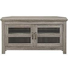 wood corner tv stand. we furniture 44\u0026quot; wood corner tv stand, driftwood tv stand
