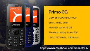 Unnecto Primo 3G cargado ...