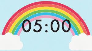 5 Minute Countdown Rainbow Timer